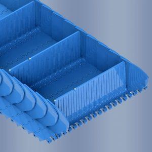 Série B50: réduit au minimum la distance entre tasseaux et rives latérales