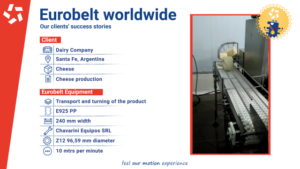 Success story: Series E925 in a cheese factory, Argentina.